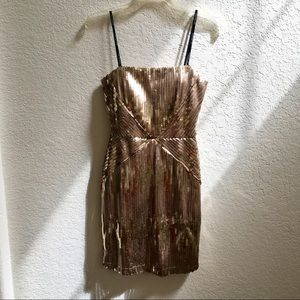 Gold Sequin Strapless Dress by City Triangles